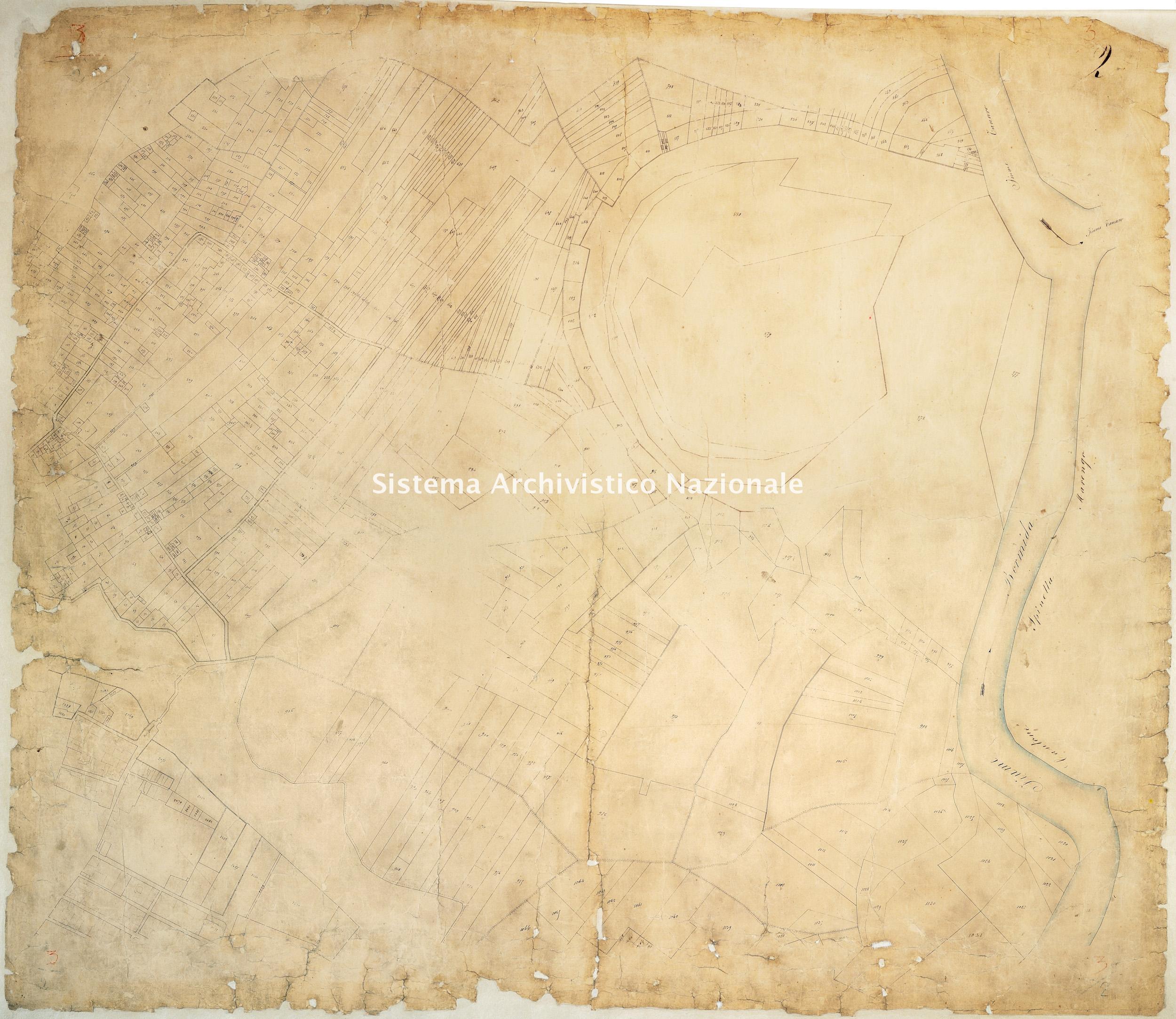 Archivio di Stato di Alessandria, Comune di Alessandria, Serie III, Catasto sabaudo, Mappe, Cantone Gamondio (con la città di Alessandria),