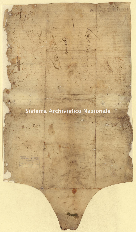 Archivio di Stato di Palermo, Diplomatico, Pergamene di diversa provenienza (già Pergamene varie 1-178, 243-259), Serie I, Pergamena PDP 051.51 (PVa 106)