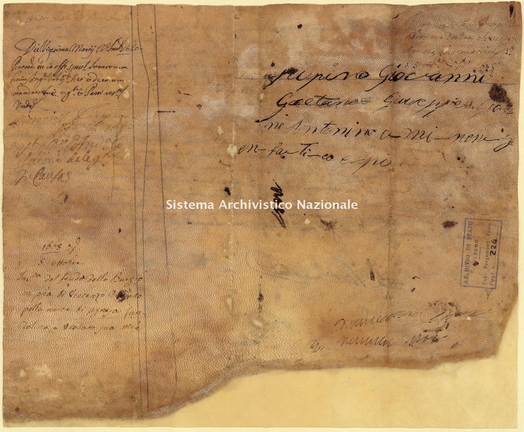 Archivio di Stato di Palermo, Diplomatico, Pergamene Landolina (già Pergamene varie 211-242), Pergamena PL 14 (PVa 224)