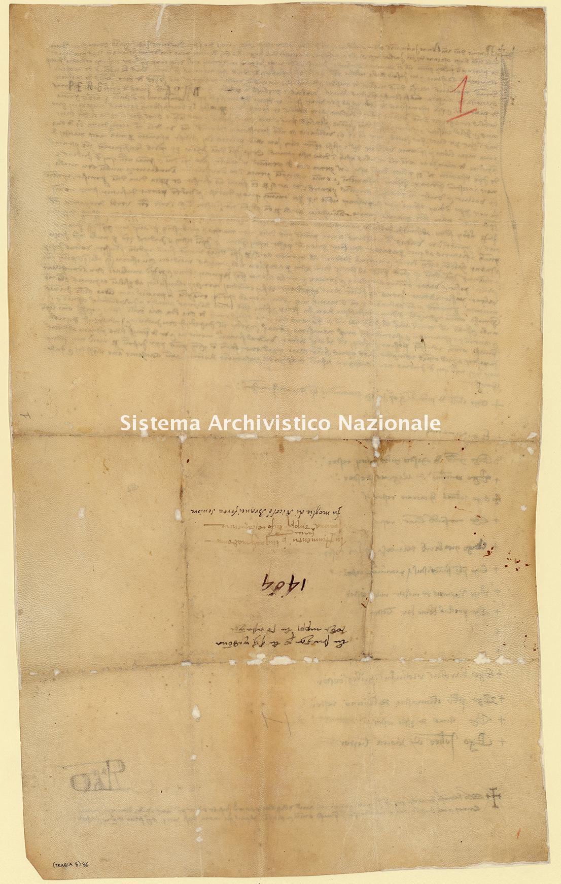 Archivio di Stato di Palermo, Diplomatico, Pergamene Trabia, Pergamena PT 003