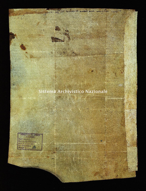 Archivio di Stato di Palermo, Diplomatico, Tabulario dei monasteri di Santa Maria Maddalena di Valle Giosafat e di San Placido di Calonerò, Pergamena TSMG 0184