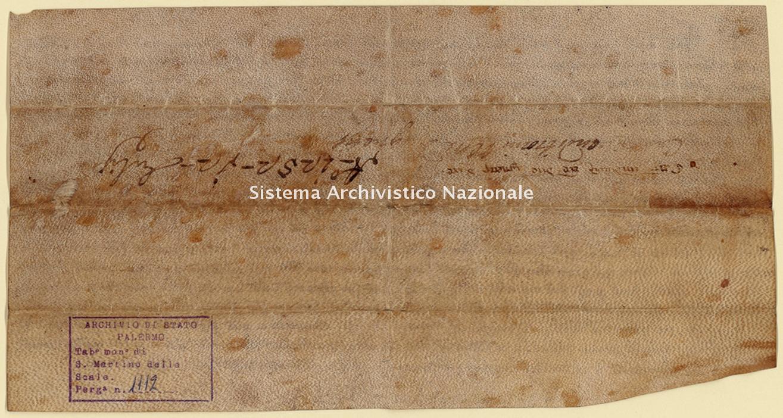 Archivio di Stato di Palermo, Diplomatico, Tabulario del monastero di San Martino delle Scale, Pergamena TSMS 1112