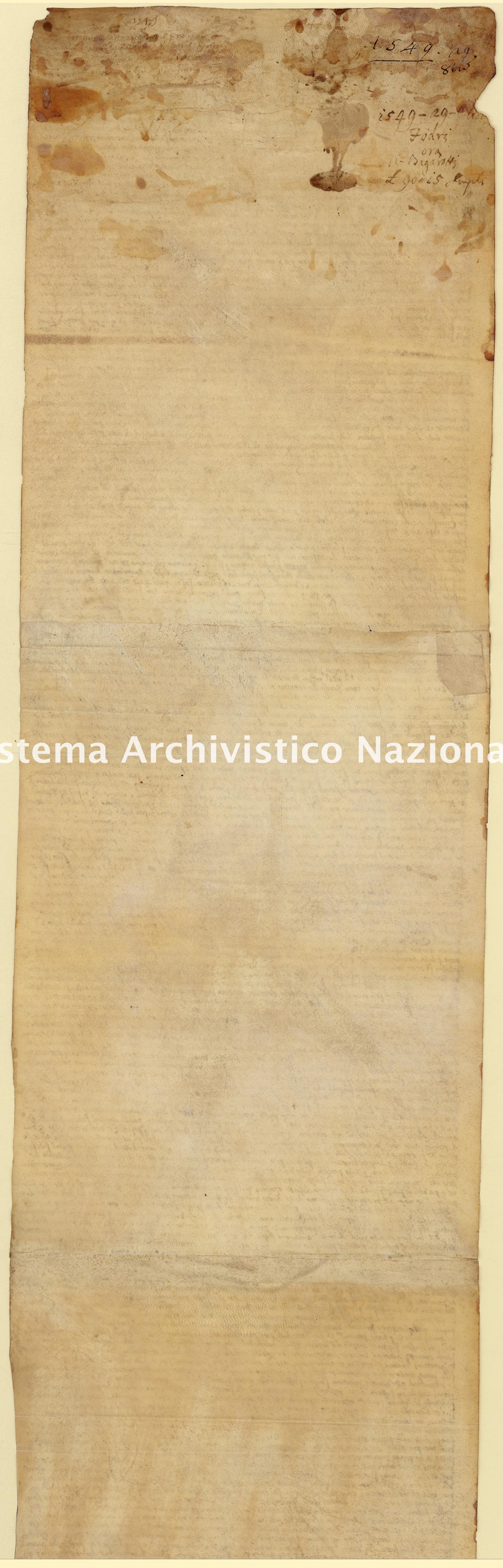 Archivio di Stato di Palermo, Diplomatico, Tabulario del monastero di San Martino delle Scale, Pergamena TSMS 1201