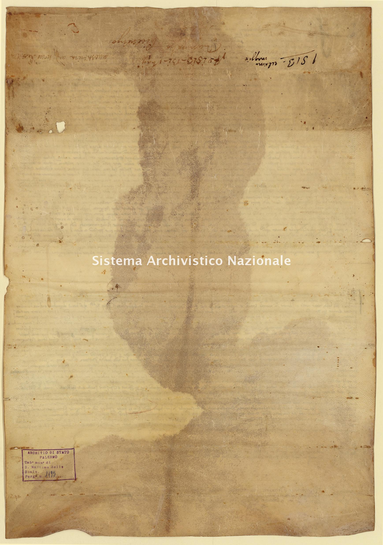 Archivio di Stato di Palermo, Diplomatico, Tabulario del monastero di San Martino delle Scale, Pergamena TSMS 1195