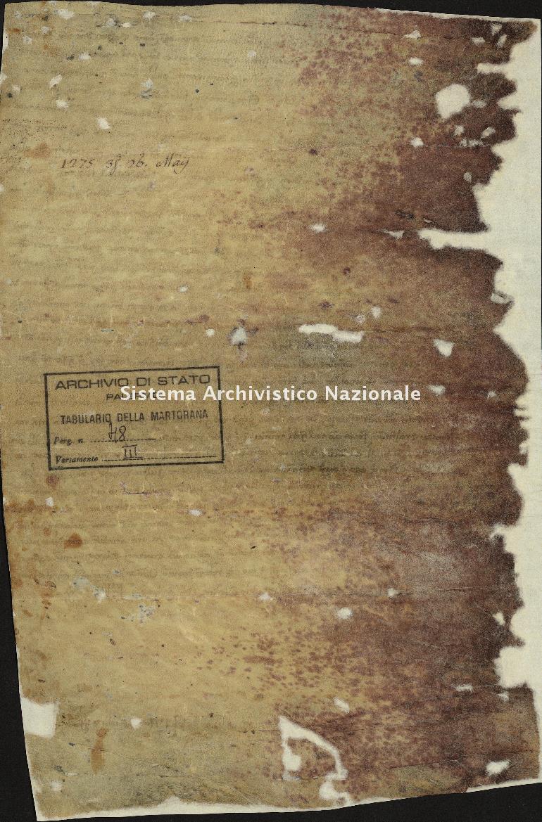 Archivio di Stato di Palermo, Diplomatico, Tabulario del monastero di Santa Maria Nuova detto