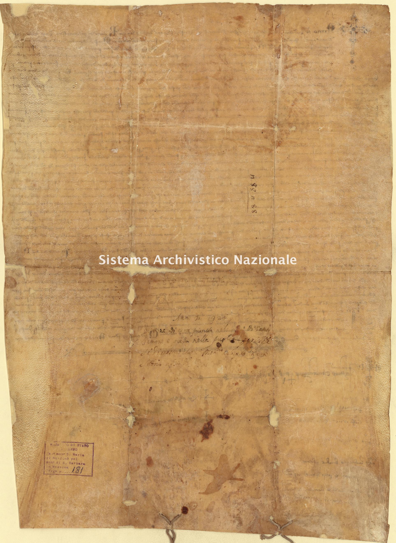 Archivio di Stato di Palermo, Diplomatico, Tabulario del monastero di Santa Maria di Malfinò poi Santa Barbara, Pergamena TSMM 181