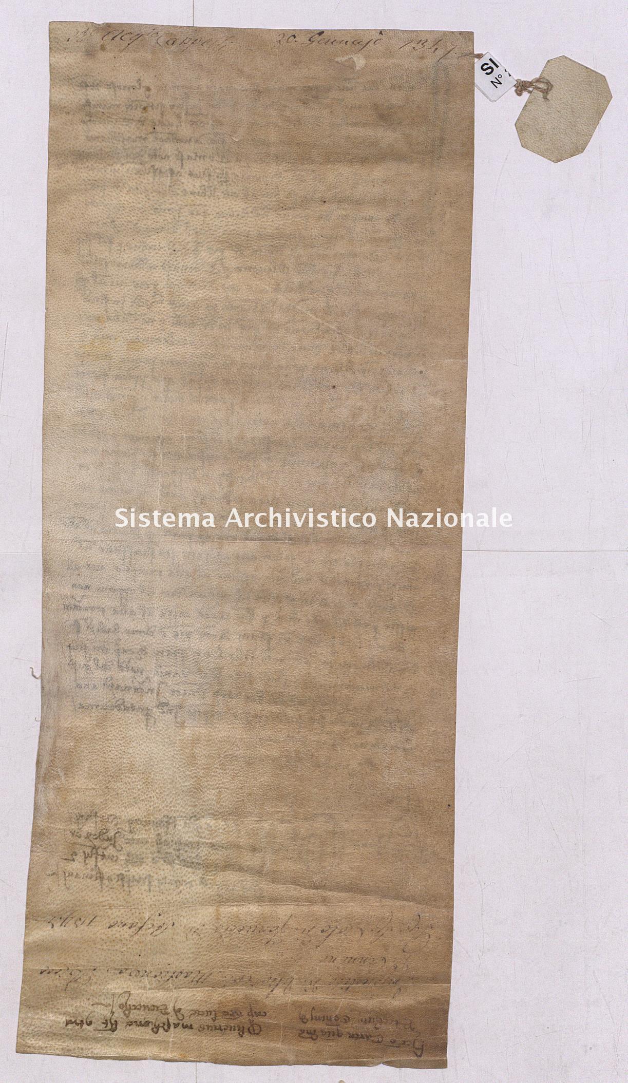 Archivio di Stato di Pisa, Diplomatico, Cappelli, Pergamena CAP02832