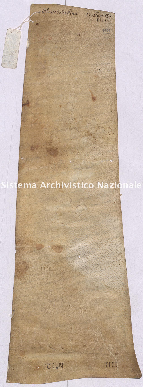 Archivio di Stato di Pisa, Diplomatico, Olivetani, Pergamena OLI05192