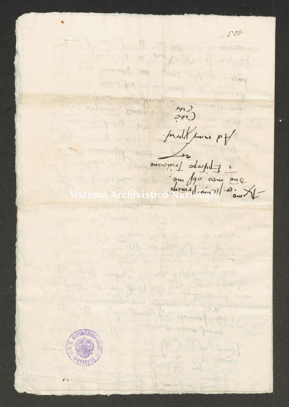 Archivio di Stato di Trento, Capitolo del Duomo di Trento, ITASTNCAPITOLODUOMON1312, Pergamena ITASTNCAPITOLODUOMON1312_02