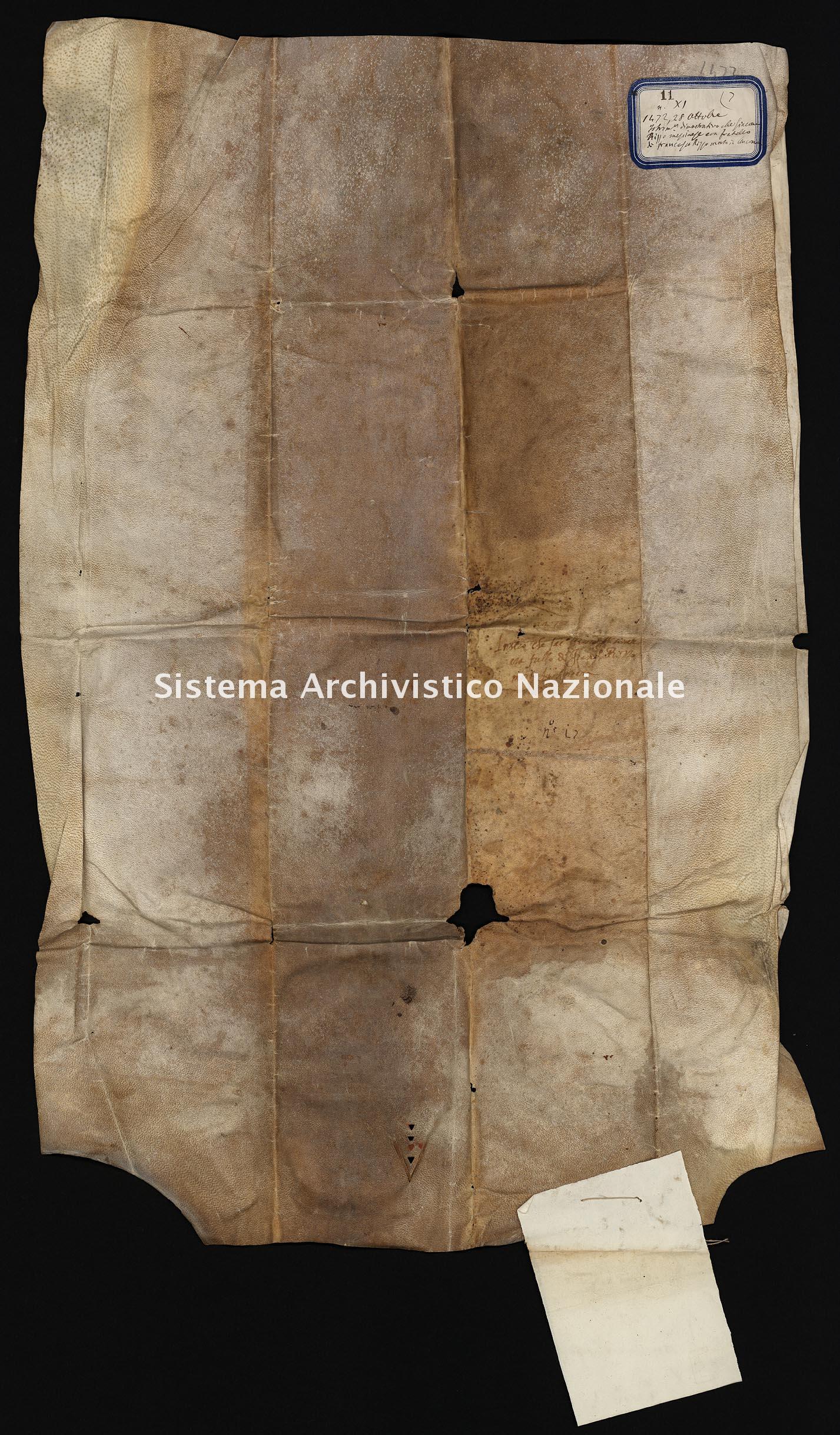 Archivio di Stato di Ancona, Comune di Ancona, Comune di Ancona (antico regime), Pergamene, Pergamena n. 11