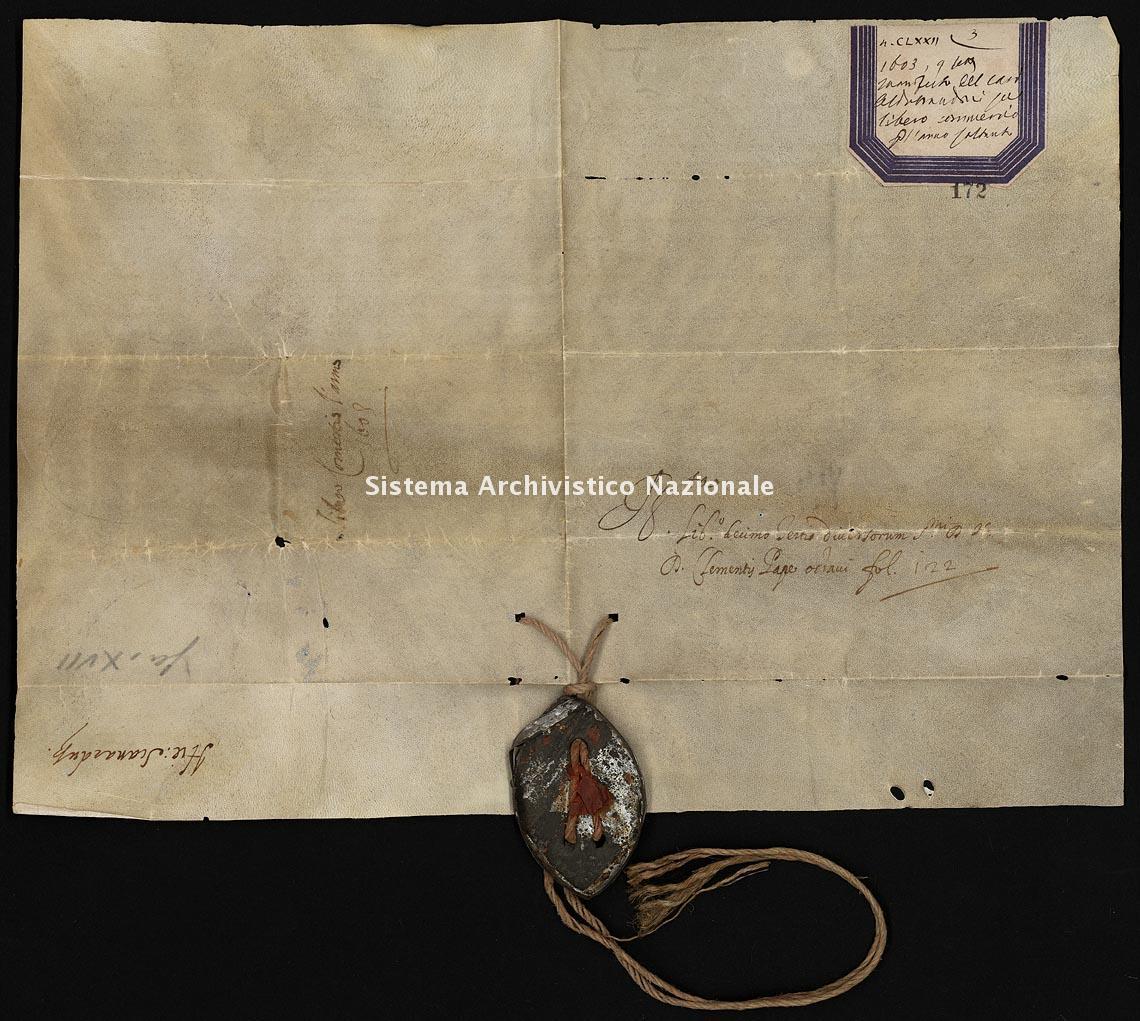 Archivio di Stato di Ancona, Comune di Ancona, Comune di Ancona (antico regime), Pergamene, Pergamena n. 172