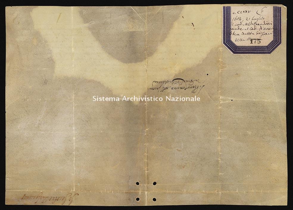 Archivio di Stato di Ancona, Comune di Ancona, Comune di Ancona (antico regime), Pergamene, Pergamena n. 175