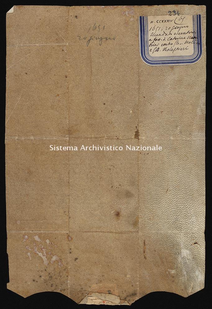Archivio di Stato di Ancona, Comune di Ancona, Comune di Ancona (antico regime), Pergamene, Pergamena n. 234