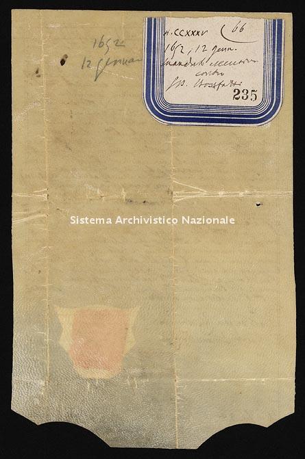 Archivio di Stato di Ancona, Comune di Ancona, Comune di Ancona (antico regime), Pergamene, Pergamena n. 235