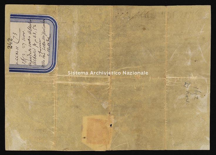 Archivio di Stato di Ancona, Comune di Ancona, Comune di Ancona (antico regime), Pergamene, Pergamena n. 242
