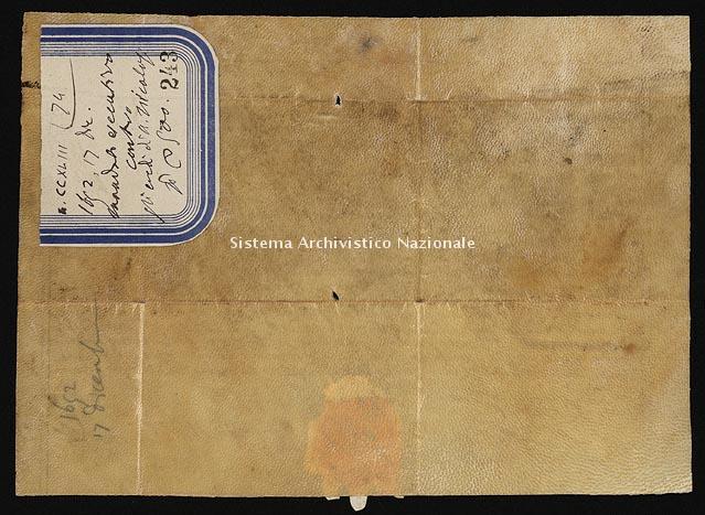 Archivio di Stato di Ancona, Comune di Ancona, Comune di Ancona (antico regime), Pergamene, Pergamena n. 243