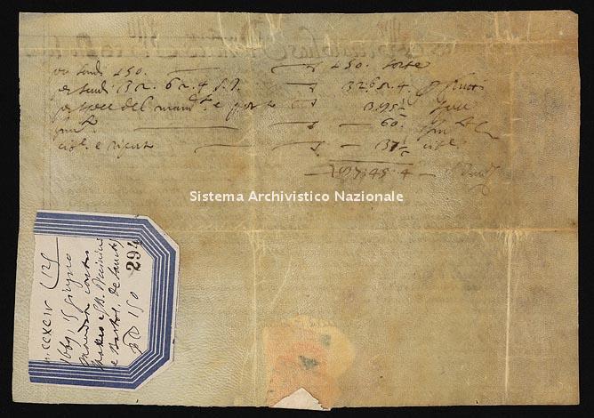 Archivio di Stato di Ancona, Comune di Ancona, Comune di Ancona (antico regime), Pergamene, Pergamena n. 294