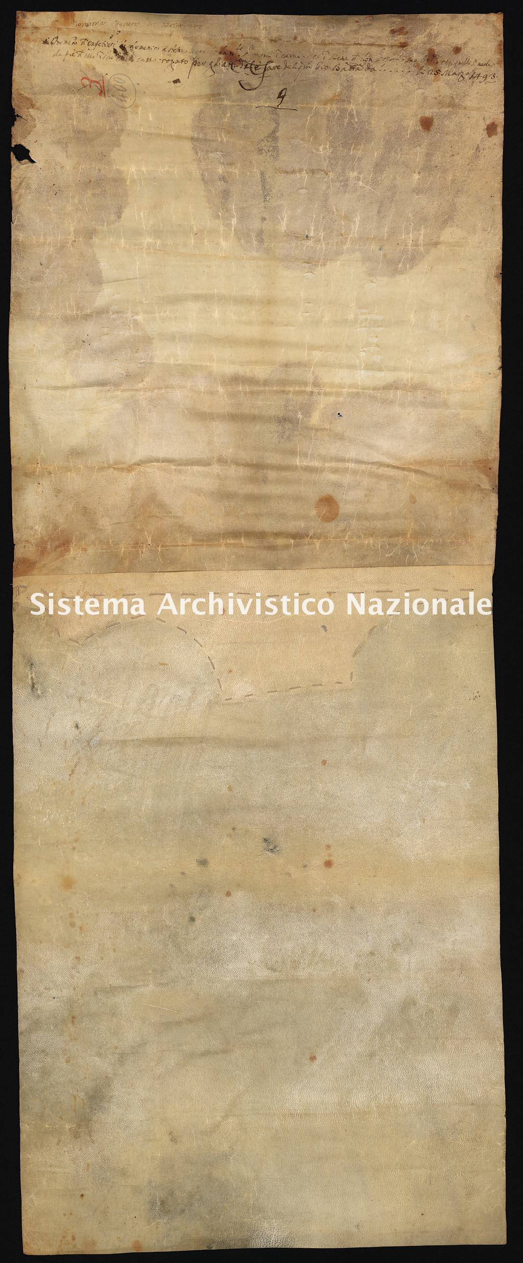 Archivio di Stato di Ancona, Comune di Ancona, Comune di Ancona (antico regime), Pergamene, Pergamena n. 400