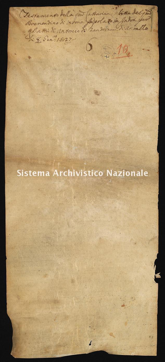Archivio di Stato di Ancona, Comune di Ancona, Comune di Ancona (antico regime), Pergamene, Pergamena n. 407
