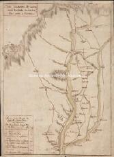 Archivio di Stato di Genova, Carta dimostrativa del nuovo tratto di strada che da Cento Croci porta a Fornovo, Segnatura: 1