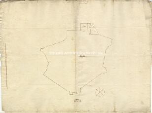 Archivio di Stato di Genova, AlgagliolaPianta del circuito delle mura di Algajola, Segnatura: 26