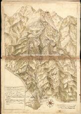 Archivio di Stato di Genova, Delineazione dei confini tra Mornese e Polcevera, Segnatura: Tav. XXV