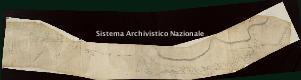 Archivio di Stato di Genova, Pianta di un tratto di strada attraverso un centro abitato, forse Nervi, Segnatura: 19