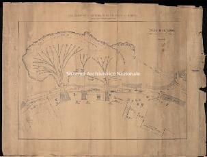 Archivio di Stato di Genova, Ampliamento e sistemazione del porto di Genova. Cantiere di mare per l'imbarco delle pietre, Segnatura: 139 A VI