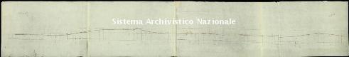 Archivio di Stato di Genova, Profil en loug de la nouvelle traverse de Nervi, Segnatura: 17