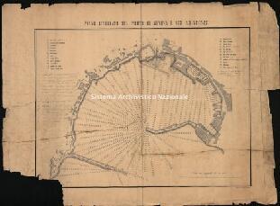 Archivio di Stato di Genova, Piano livellato del porto di Genova e sue adiacenze, Segnatura: 7 A I