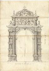 Archivio di Stato di Genova, Progetto per la cappella e tribuna del Principe Andrea Doria nella Chiesa di San Francesco, Segnatura: 192