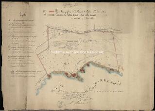Archivio di Stato di Genova, Plan topographique de la proprieté du Docteur Le Feire, a NiceProgetto di realizzazione di bagni sulla costa tra Nizza e Villefranche, Segnatura: 56