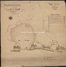 Archivio di Stato di Genova, Piano della Cava della Chiappella e di quella delle fortificazioni adiacentiPlanimetria della cava della Chiappella con indicazione dei proprietari dei terreni sottoposti ad esproprio, Segnatura: 137