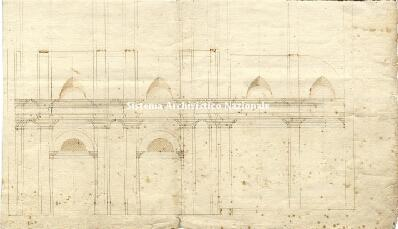 Archivio di Stato di Genova, Disegno della chiesa che intendono fare i Padri di S. Francesco di Moneglia al r. parroco, Segnatura: 2