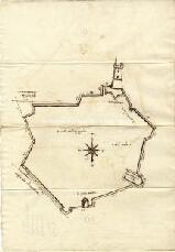 Archivio di Stato di Genova, Pianta dell'Algagliola, Segnatura: 22/a Corsica - Algajola