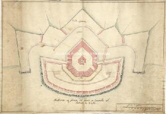 Archivio di Stato di Genova, Batteria in forma di ferro a cavallo al fortino di Vado, Segnatura: 9