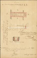 Archivio di Stato di Trieste, II-Ponte sul torrente Pilati, sulla Strada dell'Istria: progetto di modifica, Segnatura: 0636 f