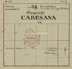 Archivio di Stato di Trieste, Mappa catastale del Comune di Caresana foglio I, sezione I, Segnatura: 655 a 01