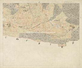 Archivio di Stato di Trieste, Mappa catastale del Comune di Monti foglio I, sezione 1, Segnatura: 671 b 01