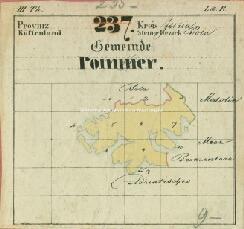 Archivio di Stato di Trieste, Mappa castastale del Comune di Pomer foglio IV, sezioni IV e ad IX, Segnatura: 366 b 04