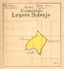 Archivio di Stato di Trieste, Mappa catastale del Comune di Lesecce di S. Canziano foglio I, sezioni 1 e 8, Segnatura: 247 c 01