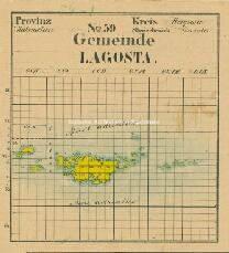 Archivio di Stato di Trieste, Mappa catastale del Comune di Lagosta foglio XII, sezione XII, Segnatura: 238 a 12