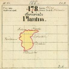 Archivio di Stato di Trieste, Mappa catastale del Comune di Planina di Circhina foglio IV, sezione ad I, Segnatura: 350 b ad01