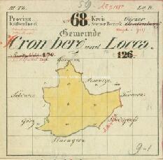 Archivio di Stato di Trieste, Mappa catastale dle Comune di Moncorona foglio V, sezioni V e VIII, Segnatura: 284 b 05