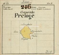 Archivio di Stato di Trieste, Quadro di unione delle mappe catastali del Comune di Prelose S. Egidio, Segnatura: 375 b 00