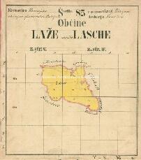 Archivio di Stato di Trieste, Mappa catastale del Comune di Lase foglio V, sezione 5, Segnatura: 241 c 05