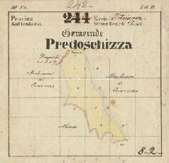 Archivio di Stato di Trieste, Mappa catastale del Comune di La Sella foglio VIII, sezione VIII, Segnatura: 242 b 08