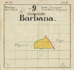 Archivio di Stato di Trieste, Mappa catastale del Comune di Barbana d'Istria foglio I, sezione I, Segnatura: 23 b 01
