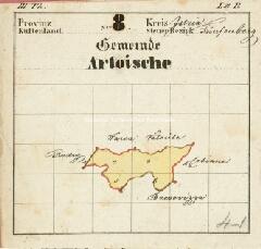 Archivio di Stato di Trieste, Mappa catastale del Comune di Artuise foglio I, sezione I, Segnatura: 15 b 01