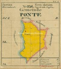 Archivio di Stato di Trieste, Mappa catastale del Comune di Ponte foglio VI, sezione VI, Segnatura: 634 a 06